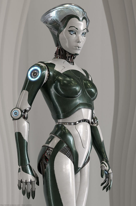 RobotSkin Female Android by David Letondor