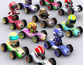 3DRT-Chibii racers - retro cars animated