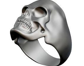 jewel 3D print model Skull Ring