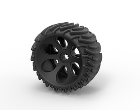 3D printable model Diecast Offroad wheel 1