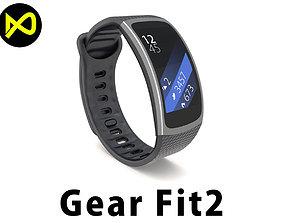 3D model Samsung Gear Fit2 Black