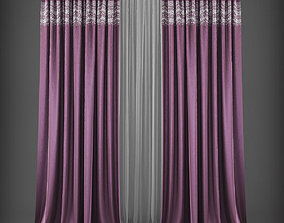 Curtain 3D model 259 low-poly
