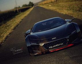 3D asset Quattro Spectre coupe version