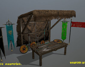 market bench 1 3D model