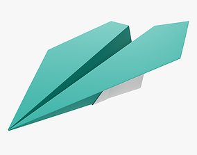 3D Paper airplane 03