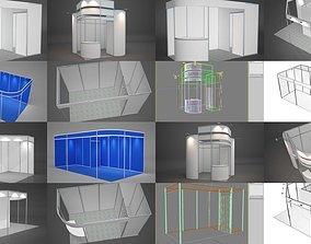 3D model Exhibition stands octanorm