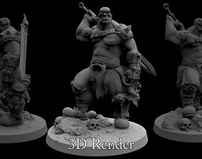Orc Warrior For 3D Printing