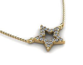 Jewelry Pendant 3D print model gold-ring