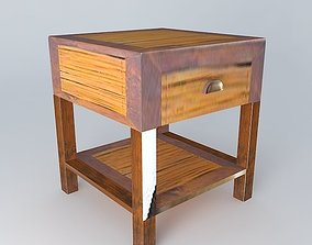 Nightstand BAMBOO houses the world 3D