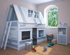 Child bed Lifetime My Hangout 2 by lifetimekidsrooms 3D