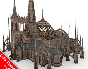 Gothic Cathedral 01 3D asset