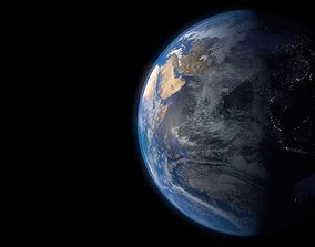 3D model Earth rotating