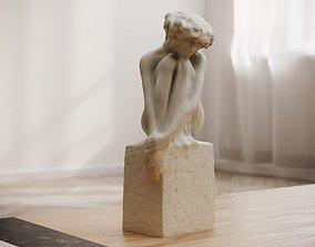 Girl statue Decor 3D