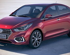 3D model Hyundai Accent 2018