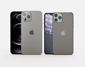 iphone 12 and 11 pro max 3D model