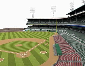 Baseball Ground home 3D model game-ready