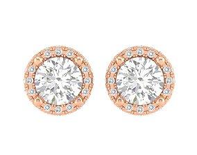 Women Round Earrings 3dm stl render detail jewelry
