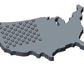 USA Flag 3d 3D print model