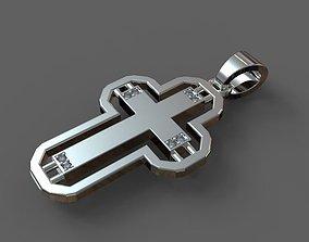 Christian symbol cross pendant 3D print model modeling