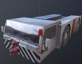 3D asset airport tow tractor