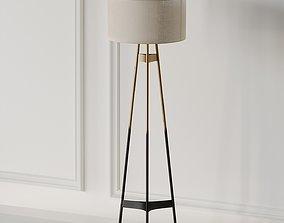 BRACE OMBRE FLOOR LAMP CB2 Exclusive 3D