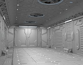 3D model Sci-Fi hall environment