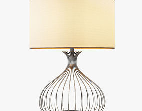 Nickel Wire Table Lamp 3D