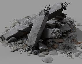 Ruin Debris Rubble 05 3D model