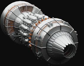 fan 3D Turbine Engine