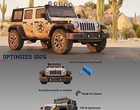 3D model Jeep Wrangler Optimized