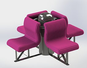 3D model Chairs for waiting room