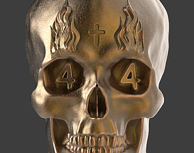 3D printable model GHOSTRIDER SKULL PENDENT and KEYCHAIN