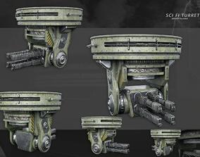 3D model Sci-Fi Turret Gun