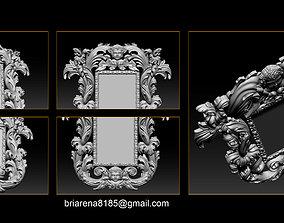 Mirror frame 3d - CNC machine - 3D CNC renaissance