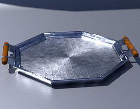 3D model Art deco chrome tray