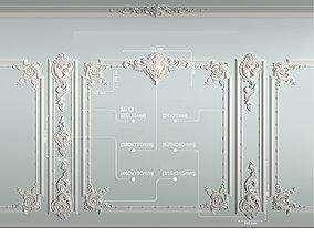 Decorative frame 3D asset
