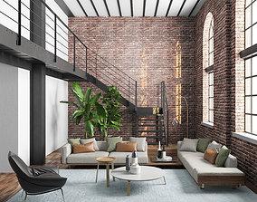 Interior Scene - vray 3D model