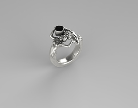 3D print model Man woman ring caring water