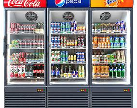 Coca-cola fridge 3D pepsi