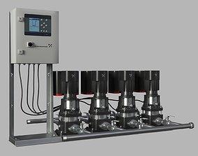 Water pump Grundfos CRE X4 3D model
