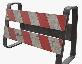 3D model Traffic Barricade