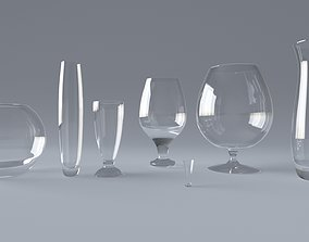 goblet snifter wineglass wine glass 3D
