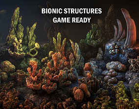 3D asset low-poly Bionic structures
