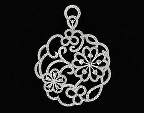 577 Diamond Flower Pendant HongKong 3D print model