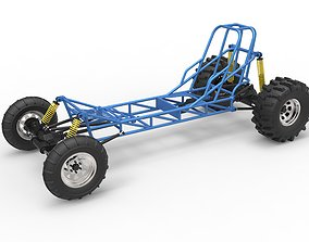 3D model Mud dragster chassis