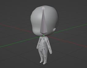 rigged Chibi Base Model with Human Meta Rig