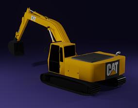 heavy 3D model Excavator Caterpillar