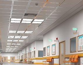3D model Hospital Hallway 2 Modular