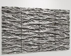 3D Simonallen sculptor SEASCAPE 4 panels