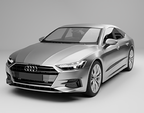 Audi A7 Sportback 2018 sedan 3D model